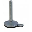 Gummi-Metall - Ø 100 mm mit Bodenbefestigungslöchern